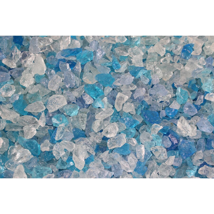Exotic Glass 10-lb Bahama Blend Fire Glass (Small)