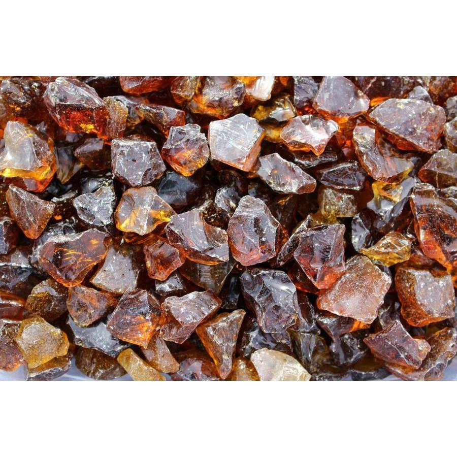 Exotic Glass 10-lb Amber Fire Glass (Medium)