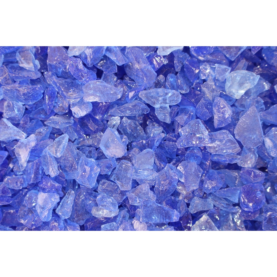 Exotic Glass 25-lb Ocean Blue Fire Glass (Small)