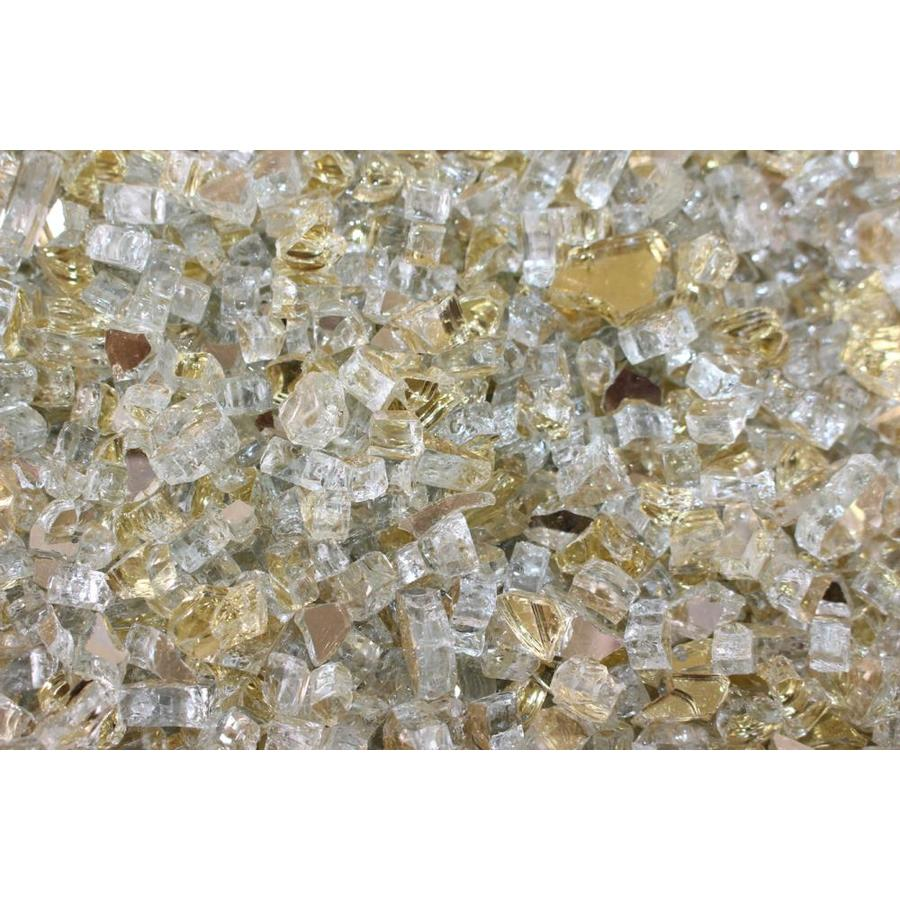 Shop Exotic Glass Gold Reflective Fire Glass At Lowes Com