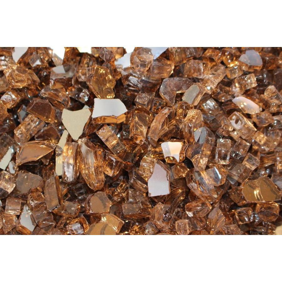 Exotic Glass 25-lb Copper Reflective Fire Glass
