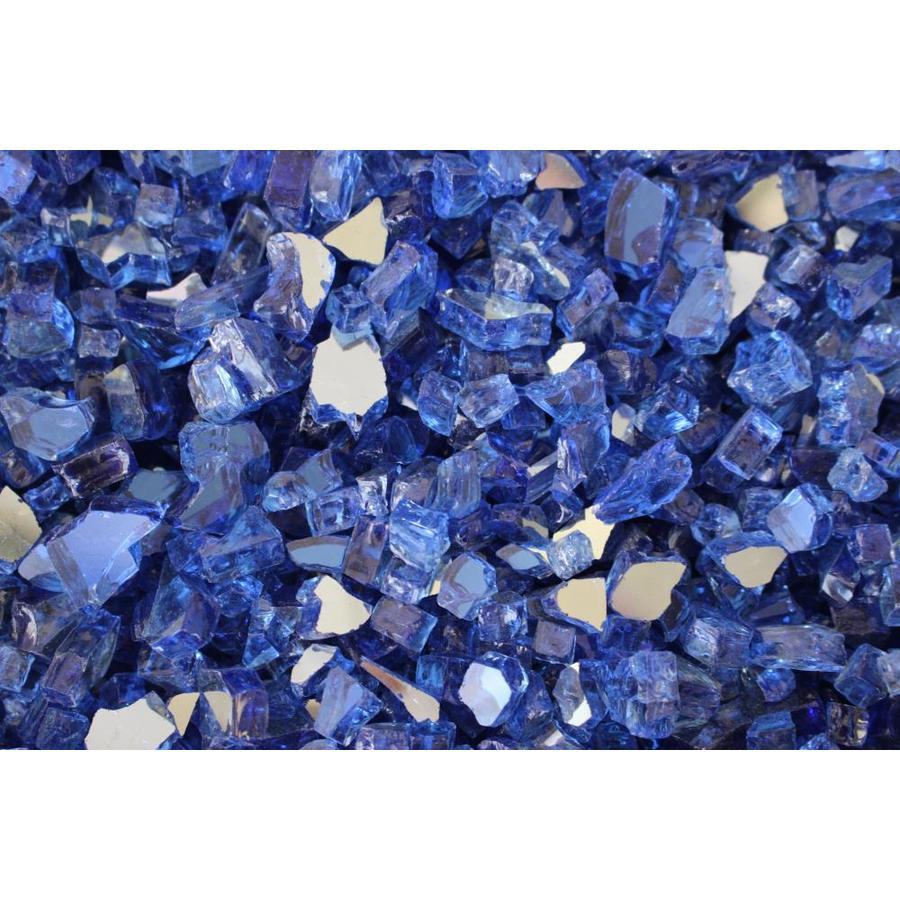 Exotic Glass 25-lb Cobalt Blue Reflective Fire Glass