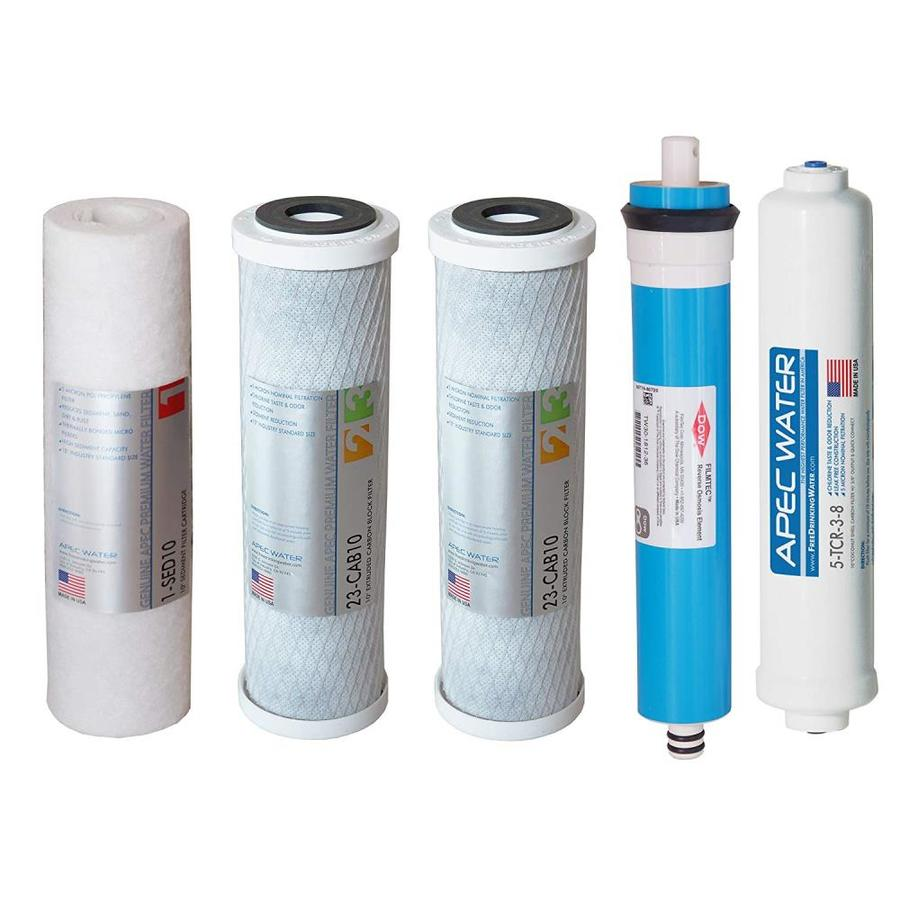 Apec Water Ultimate 50 Gpd 5 Pack Reverse Osmosis Under Sink Replacement Filter In The Replacement Water Filters Cartridges Department At Lowes Com