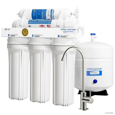 Apec Water Certified High Output 90 Gpd Reverse Osmosis