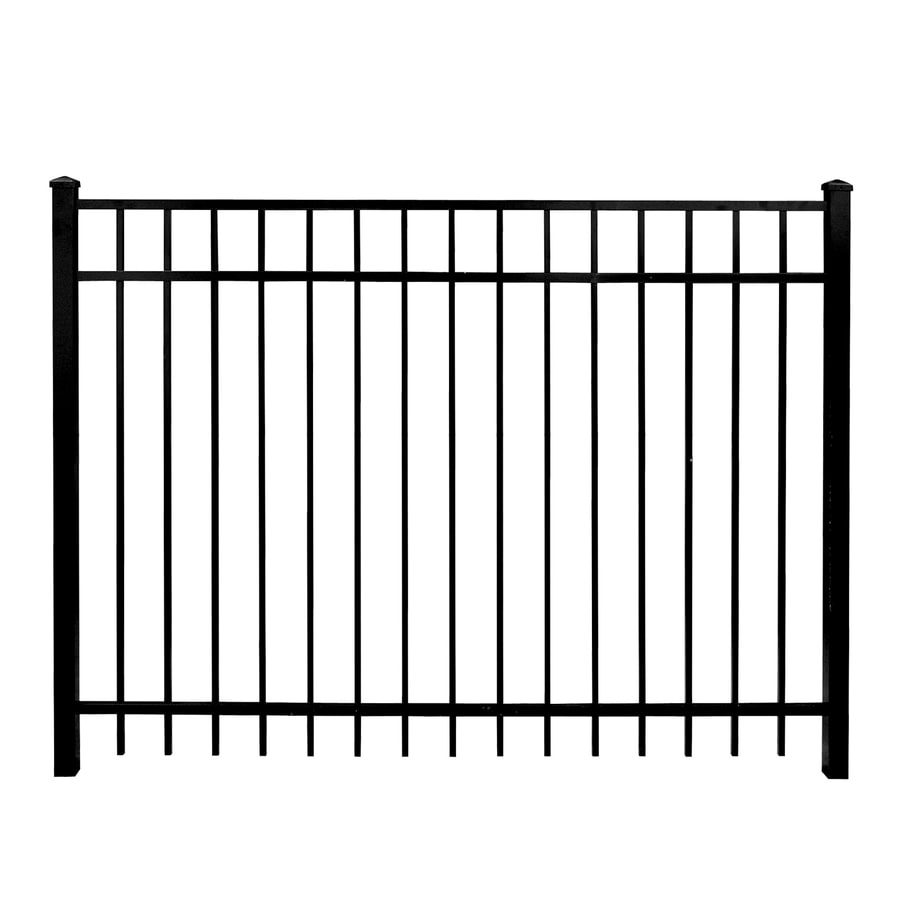 Whiting Iron (Common: 6-ft x 5-ft; Actual: 5.66-ft x 4.83-ft) DIY Panels Powder-Coated Steel Semi-Privacy Decorative Fence Gate