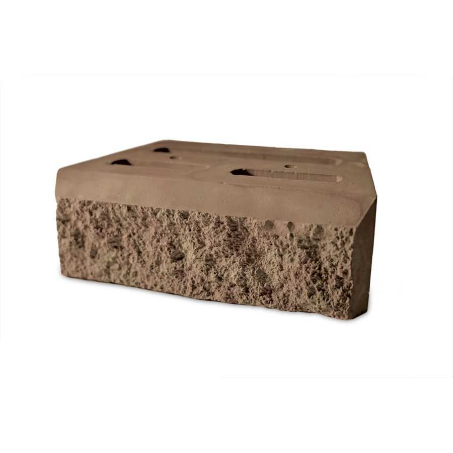 Insignia Tan and Charcoal Retaining Wall Block (Common: 4-in x 12-in; Actual: 4-in x 12-in)
