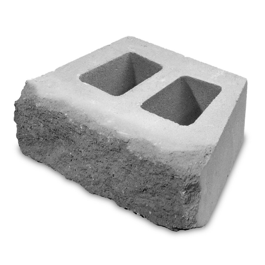 Gray/Charcoal Retaining Wall Block (Common: 6-in x 16-in; Actual: 6-in x 16-in)