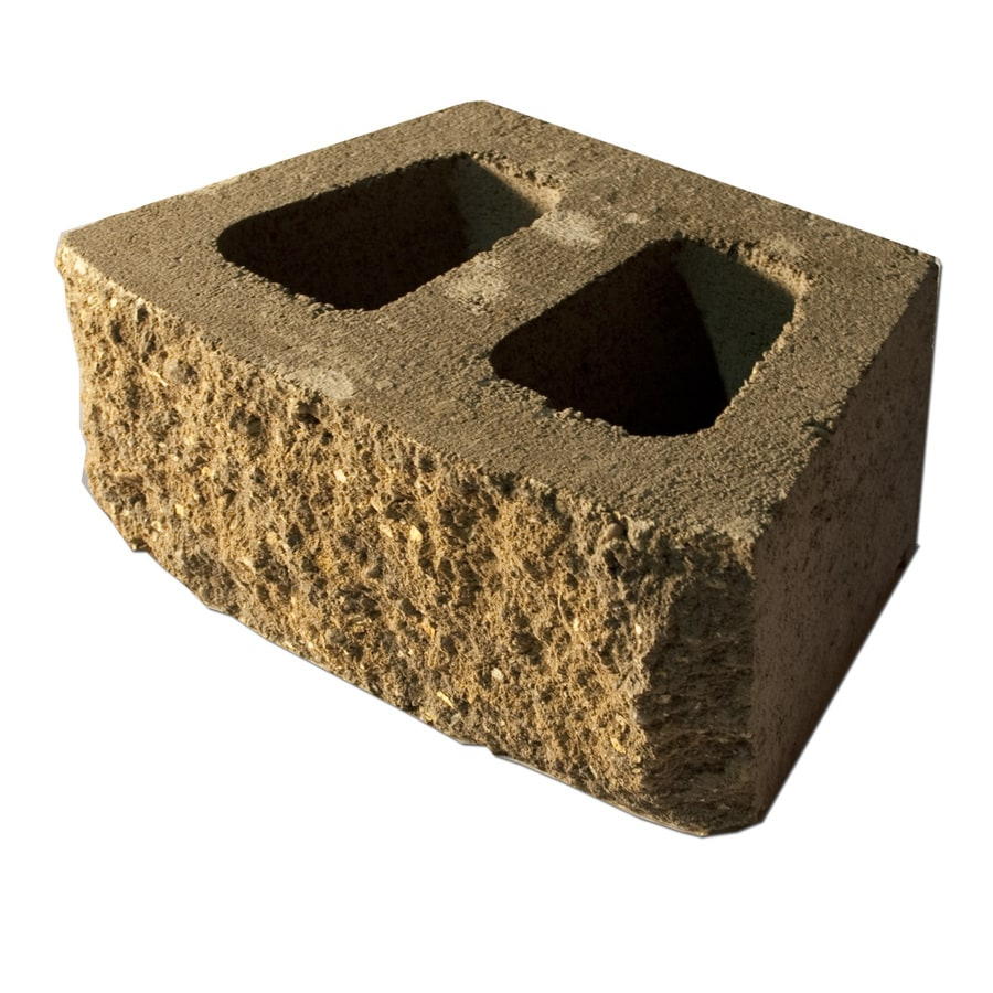Tan/Brown Retaining Wall Block (Common: 6-in x 16-in; Actual: 6-in x 16-in)