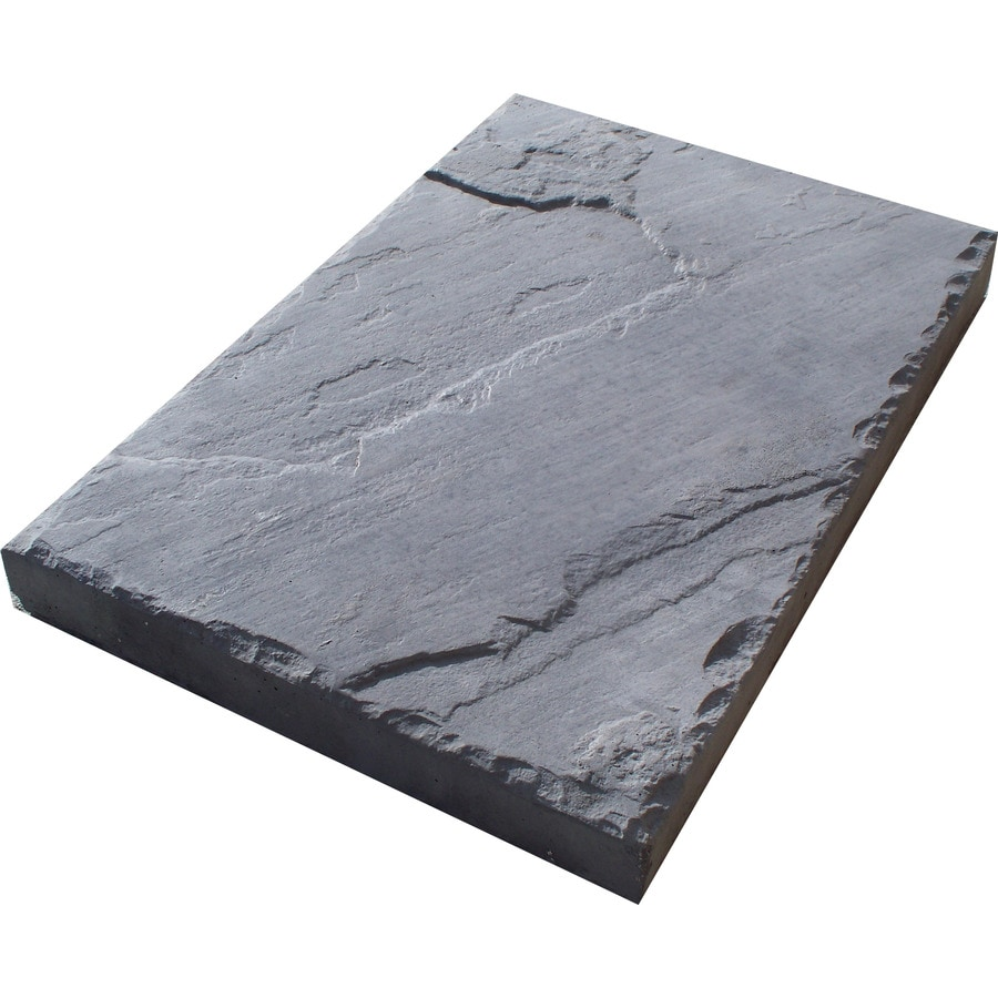 Charcoal Concrete Patio Stone Common 12 In X Actual