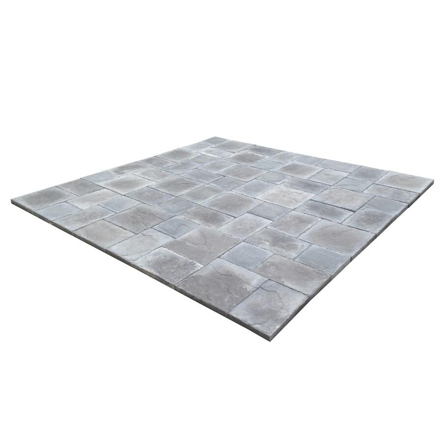 StoneBilt Concepts 10-ft x 10-ft Smoke Slate 3-Piece Patio Block Project Kit