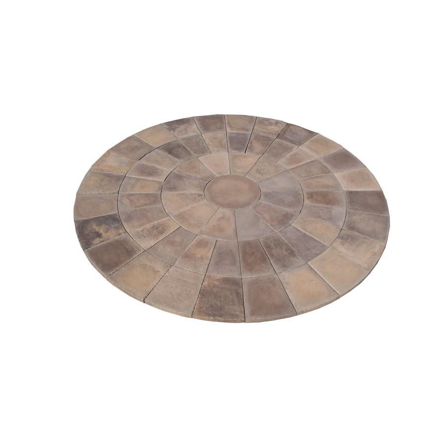 StoneBilt Concepts 11-ft dia Dark Buff Sandstone Circle Patio Block Project Kit