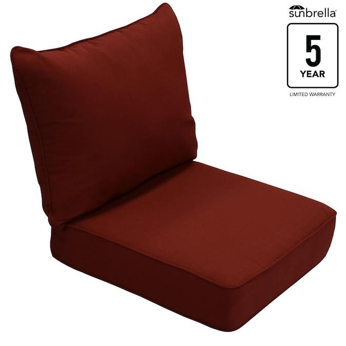 Allen Roth Sunbrella 2 Piece Canvas, Patio Furniture Cushion