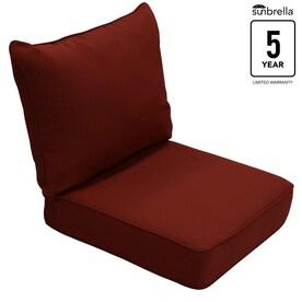 Allen Roth Sunbrella 2 Piece Canvas Chili Deep Seat Patio Chair Cushion