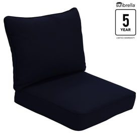 Allen   roth Sunbrella Pardini Canvas Navy Solid Deep Seat Patio Chair  Cushion for Deep SeatShop Patio Furniture Cushions at Lowes com. Royal Blue Outdoor Seat Cushions. Home Design Ideas
