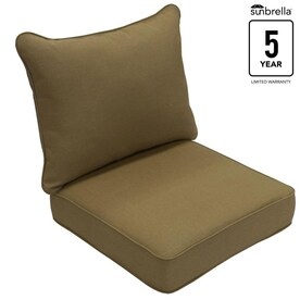 Allen Roth Sunbrella 2 Piece Sailcloth Sisal Deep Seat Patio Chair Cushion