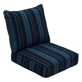 Allen + Roth Sunbrella Gatewood Stanton Lagoon Stripe Deep Seat Patio Chair  Cushion For Deep Seat
