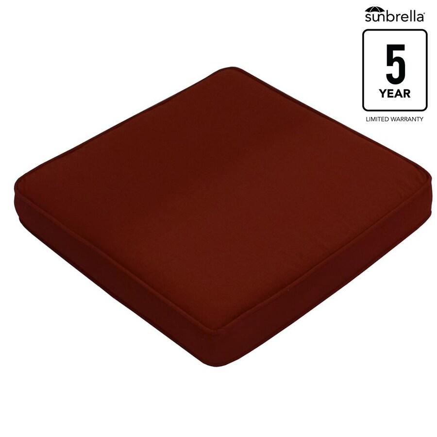 allen + roth Sunbrella 1-Piece Canvas Chili Standard Patio Chair Cushion