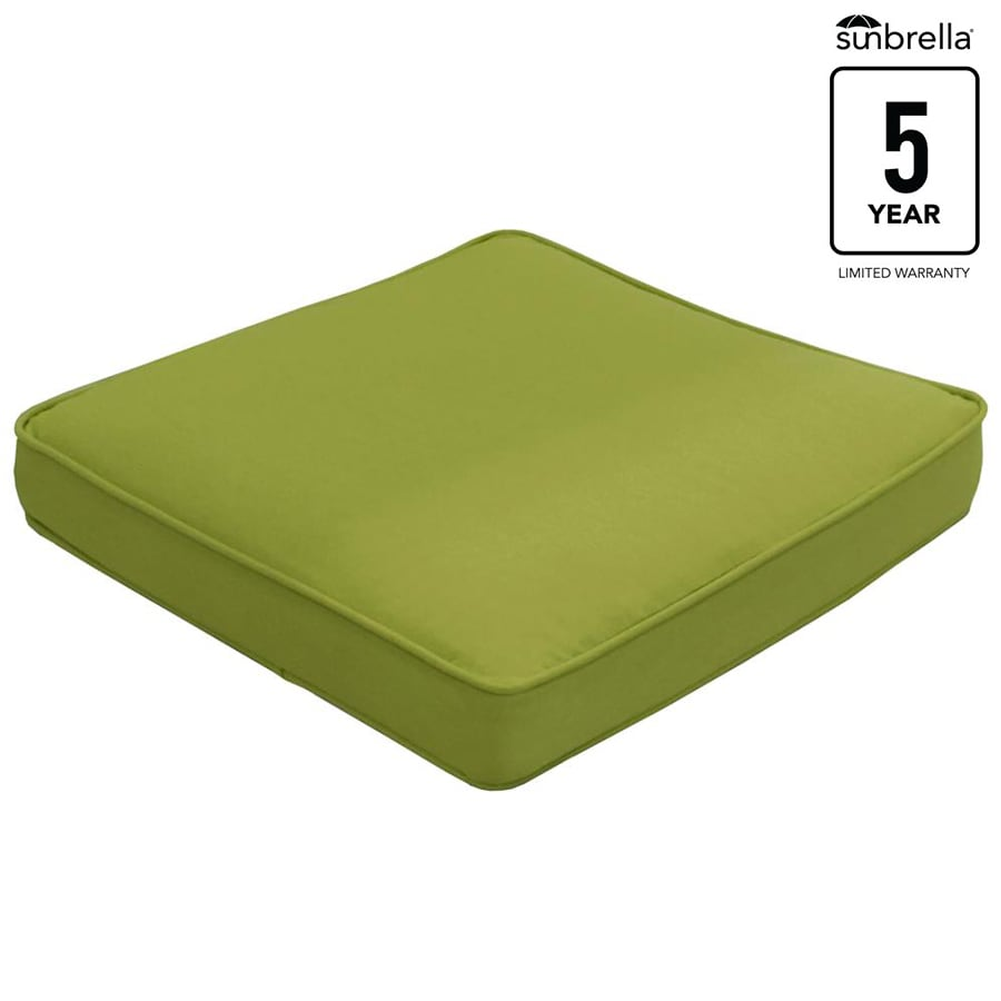 allen + roth Sunbrella Gatewood Spectrum Kiwi Solid Standard Patio Chair Cushion