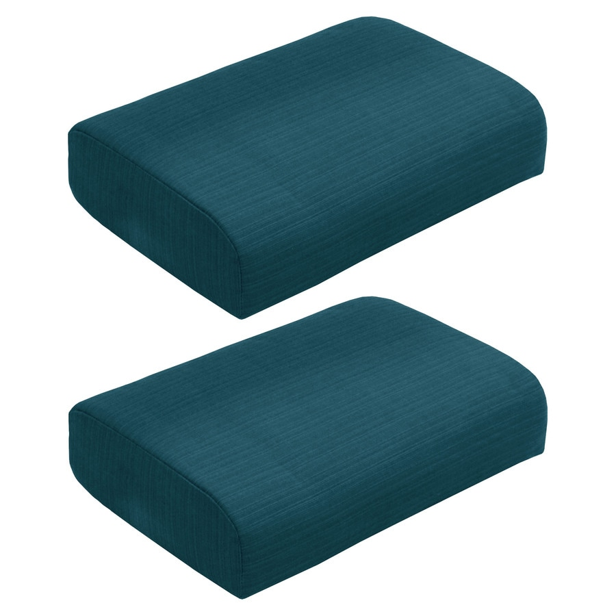 allen + roth Sunbrella Carrinbridge Deep Sea Solid Ottoman Cushion for Ottoman