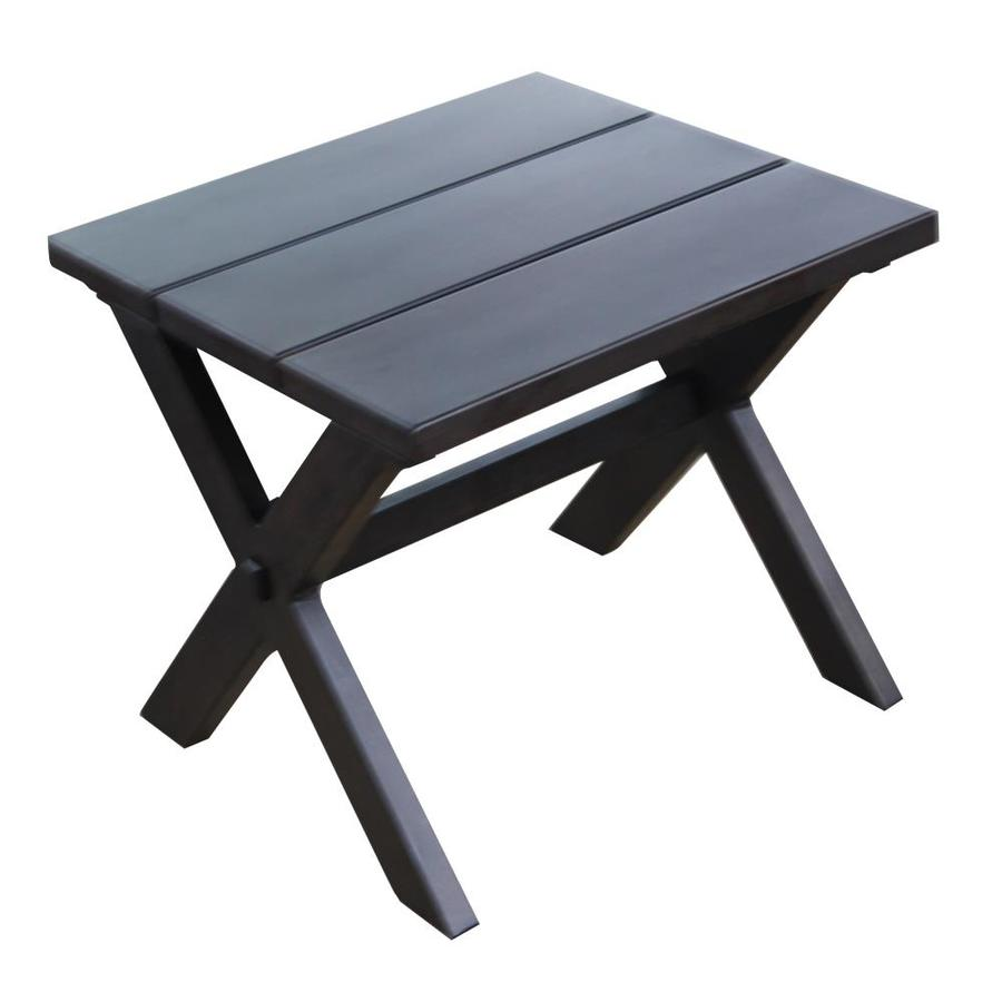 allen + roth 20.86-in W x 20.86-in L Square Metal End Table