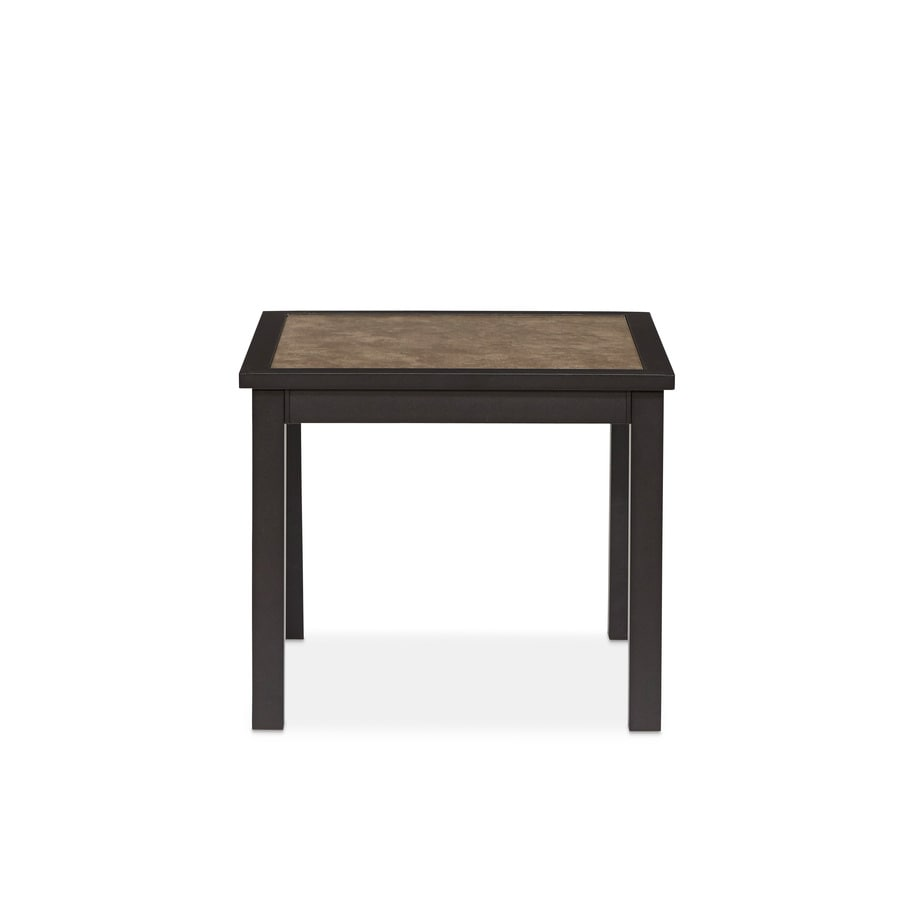 allen + roth Carrinbridge 20.75-in W x 20.75-in L Square Aluminum End Table