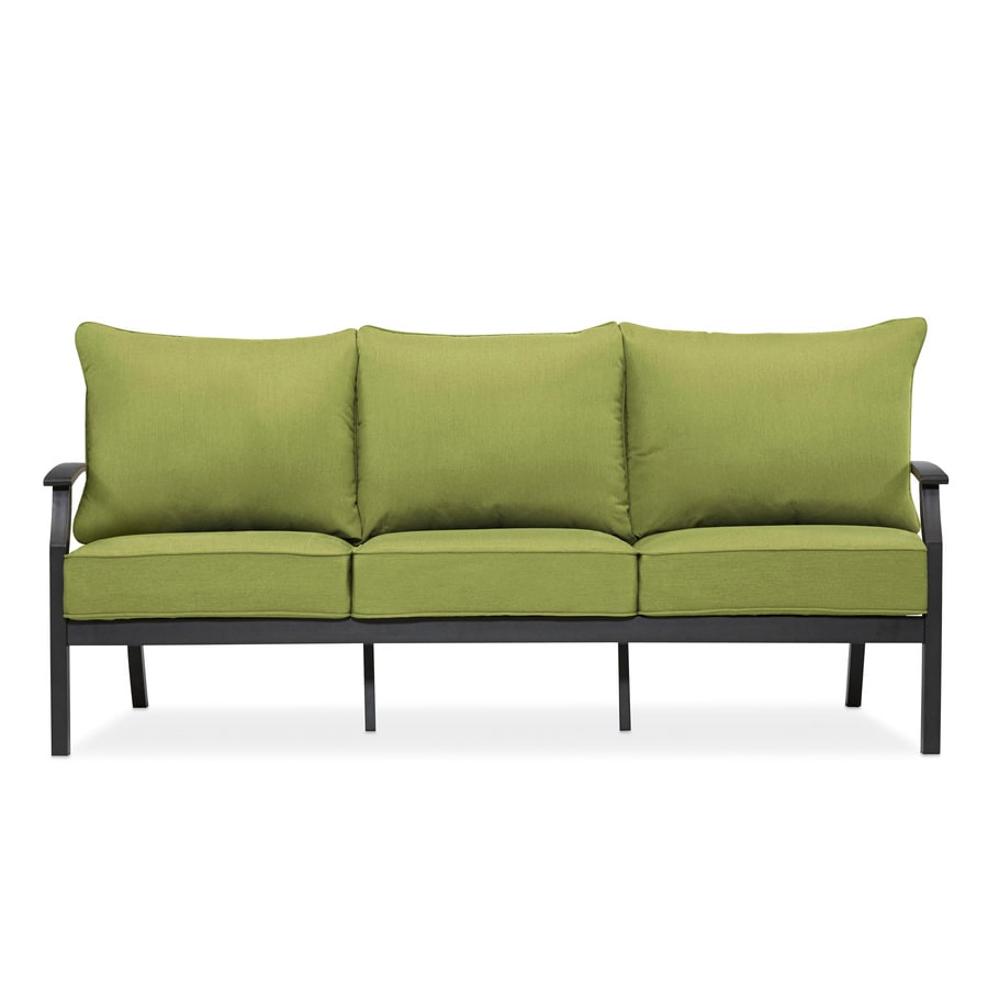 allen + roth CARRINBRIDGE Solid with Cushions Brown Metal Sofa