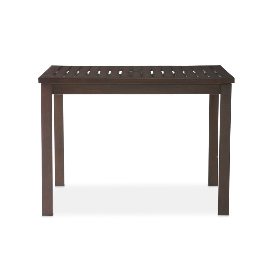 allen + roth Gatewood 42-in W x 42-in L Square Metal Dining Table