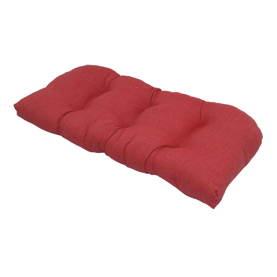 Severson Red Solid Standard Patio Chair Cushion