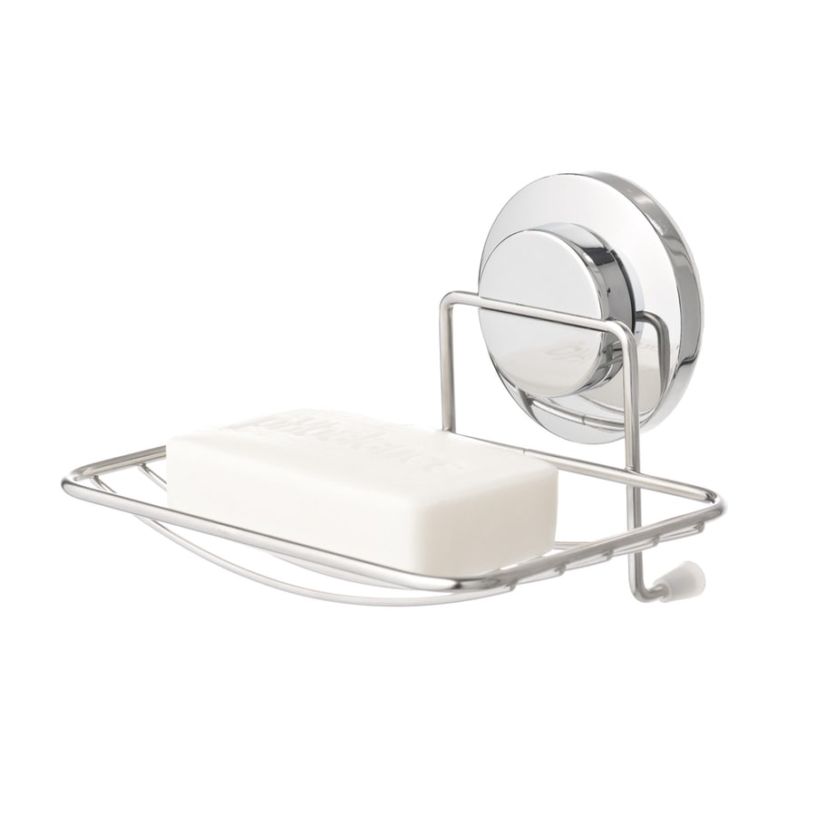 Everloc Solutions Chrome Metal Soap Dish