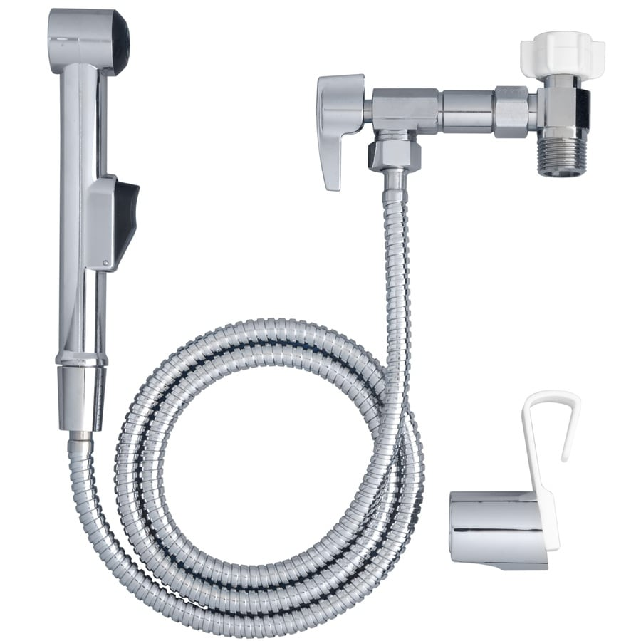 Aquaus Chrome Toilet-Mounted Bidet