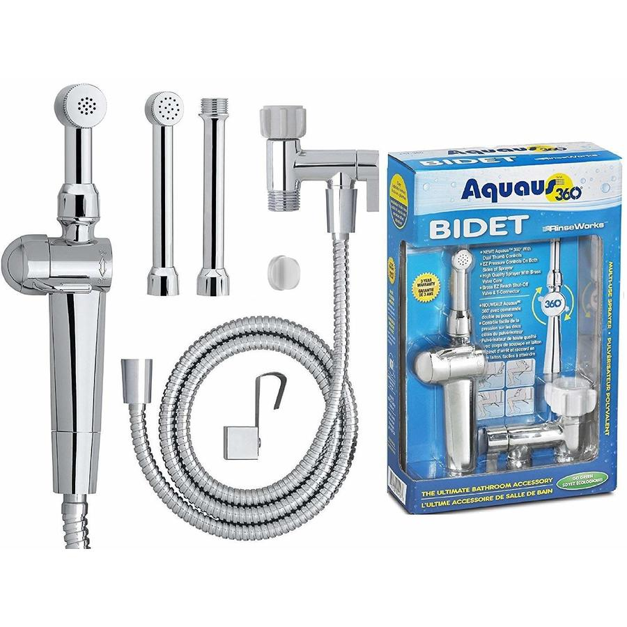 Shop Aquaus Chrome Toilet Mounted Handheld Bidet Sprayer at Lowes.com