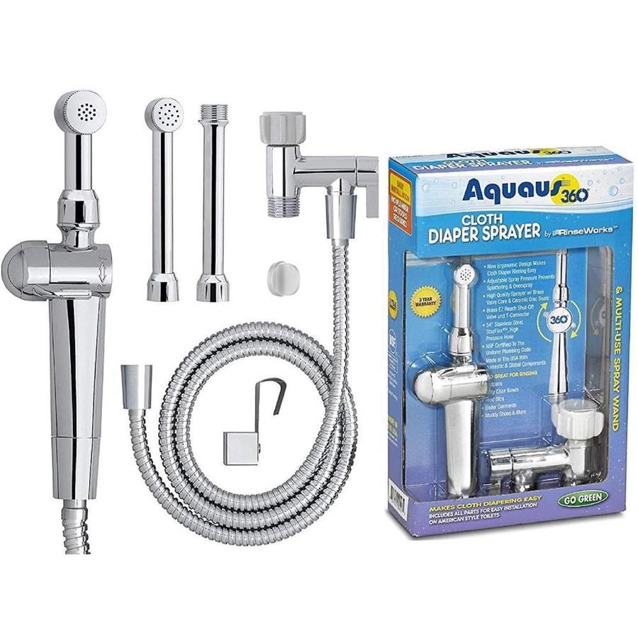 Aquaus Chrome Toilet Mounted Diaper Sprayer
