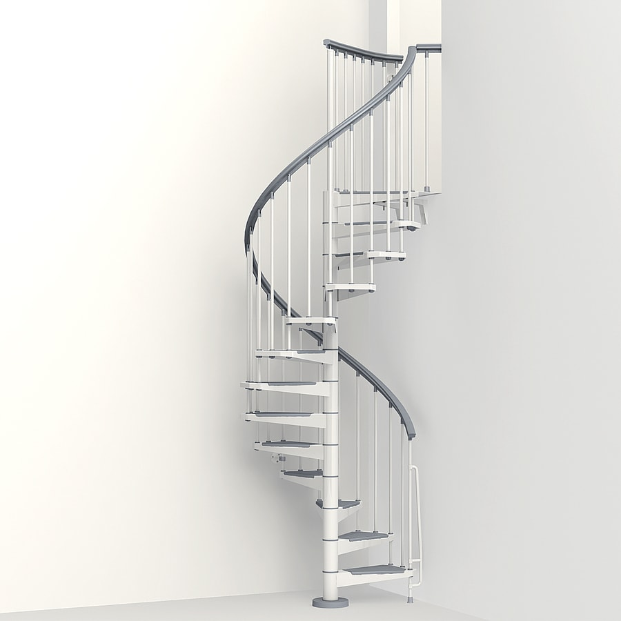 Arke Eureka 47-in x 10-ft White Spiral Staircase Kit