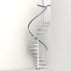 Nice Arke Eureka 47 In X 10 Ft White Spiral Staircase Kit