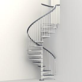 Incroyable Arke Eureka 55 In X 10 Ft White Spiral Staircase Kit