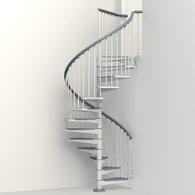 Merveilleux Arke Eureka 63 In X 10 Ft White Spiral Staircase Kit