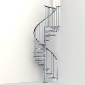 Arke Eureka 47 In X 10 Ft Gray Spiral Staircase Kit