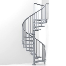 Arke Eureka 55 In X 10 Ft Gray Spiral Staircase Kit