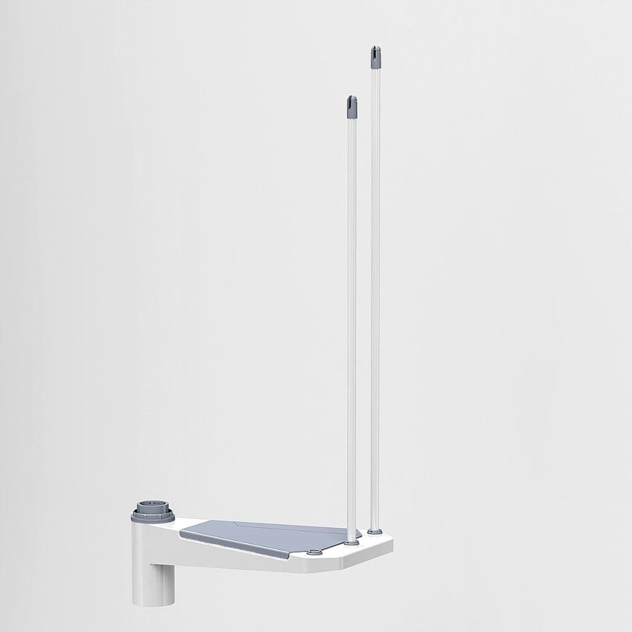 Arke Eureka 20.25-in x 13.1-in White Painted Steel Stair Riser