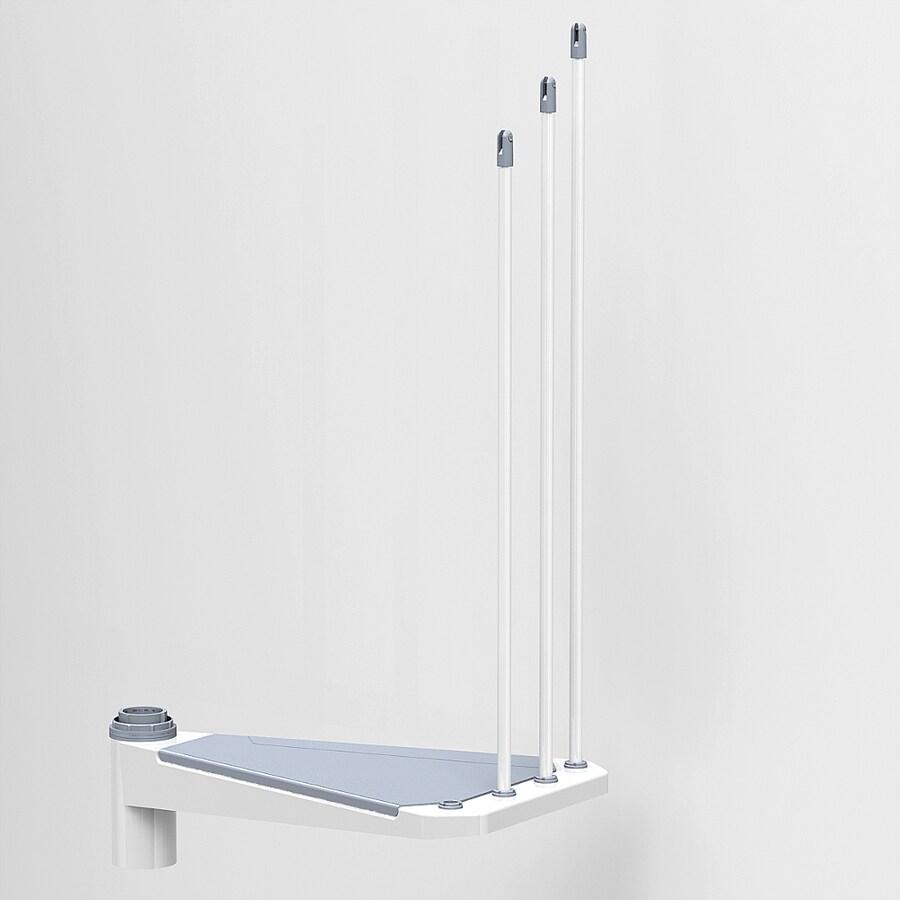 Arke Eureka 28.5-in x 17.3-in White Painted Steel Stair Riser