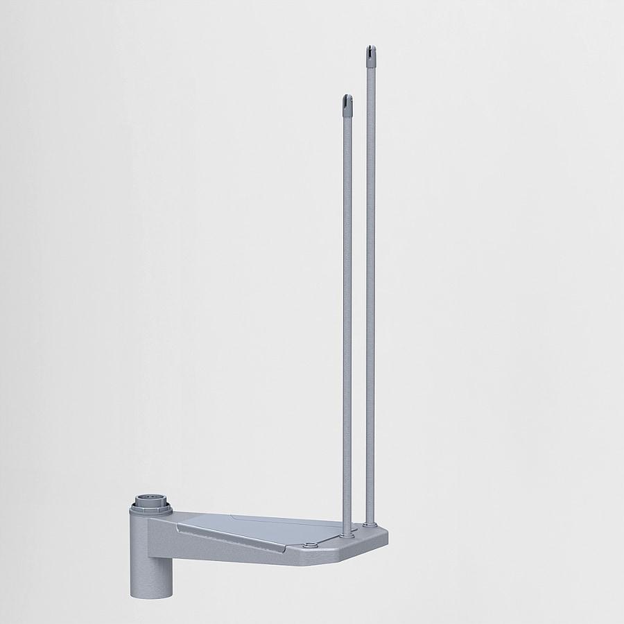 Arke Eureka 20.25-in x 13.1-in Gray Painted Steel Stair Riser