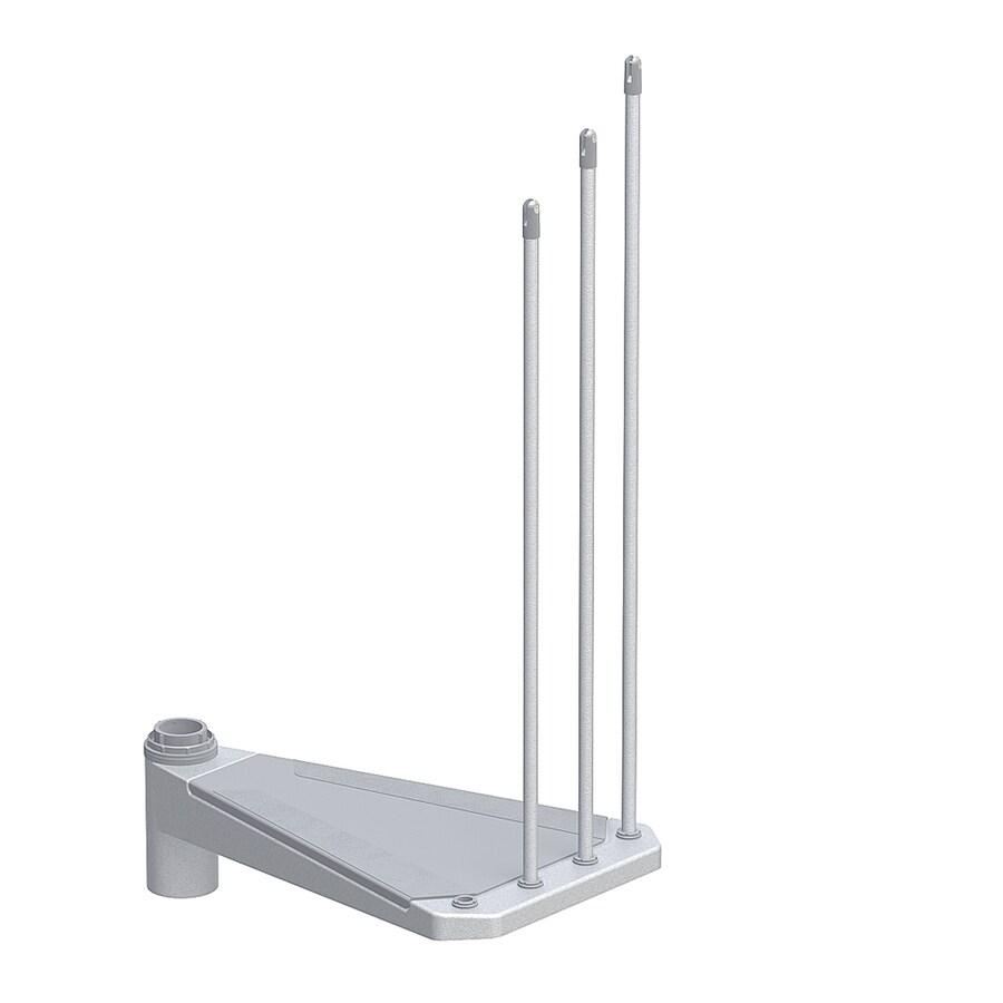 Arke Eureka 28.5-in x 17.3-in Gray Painted Steel Stair Riser