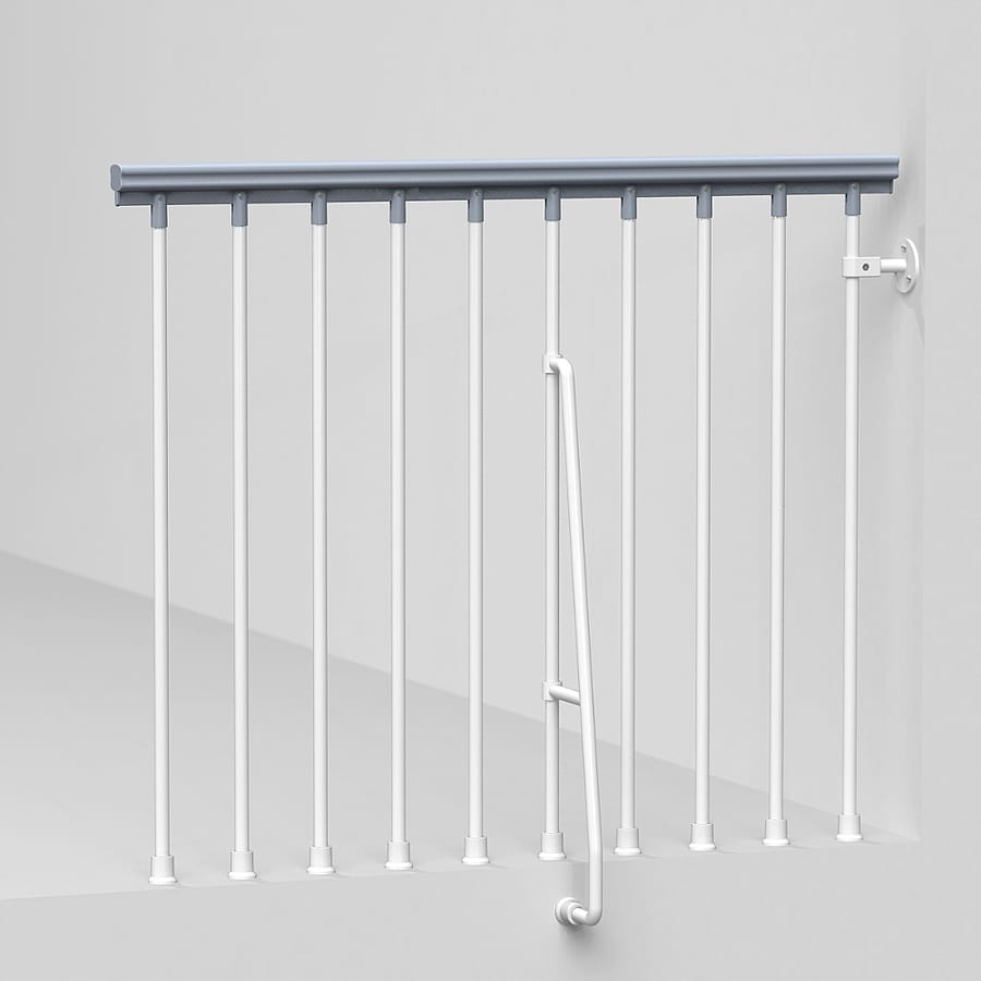 Arke Eureka 3.9-ft White Painted Steel Stair Railing Kit