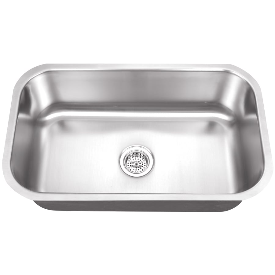 Superior Sinks 18-in x 30-in Satin Brush Stainless Steel Single-Basin-Basin Stainless Steel Undermount (Customizable)-Hole Residential Kitchen Sink
