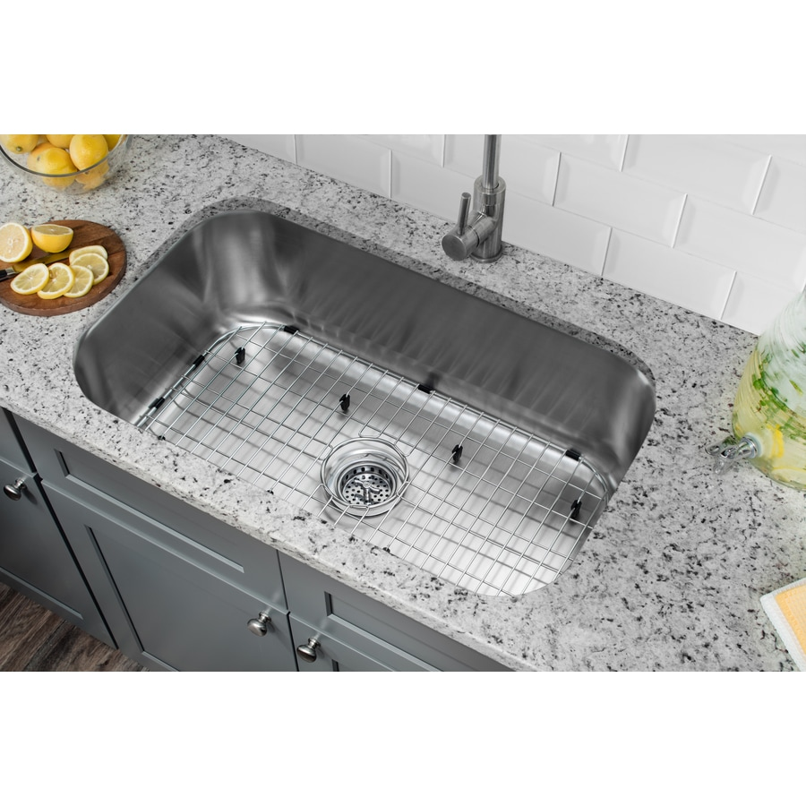 undermount stainless steel kitchen sink shop superior sinks 30 in x 18 in brushed satin single 8738