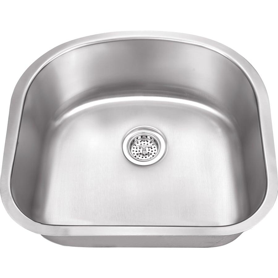 Superior Sinks 20.875-in x 23.25-in Satin Brush Stainless Steel Single-Basin Undermount Residential Kitchen Sink