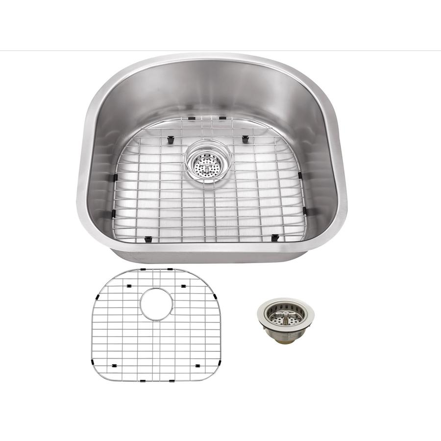 Superior Sinks 20.875-in x 23.25-in Brushed Satin Single-Basin Stainless Steel Undermount Residential Kitchen Sink