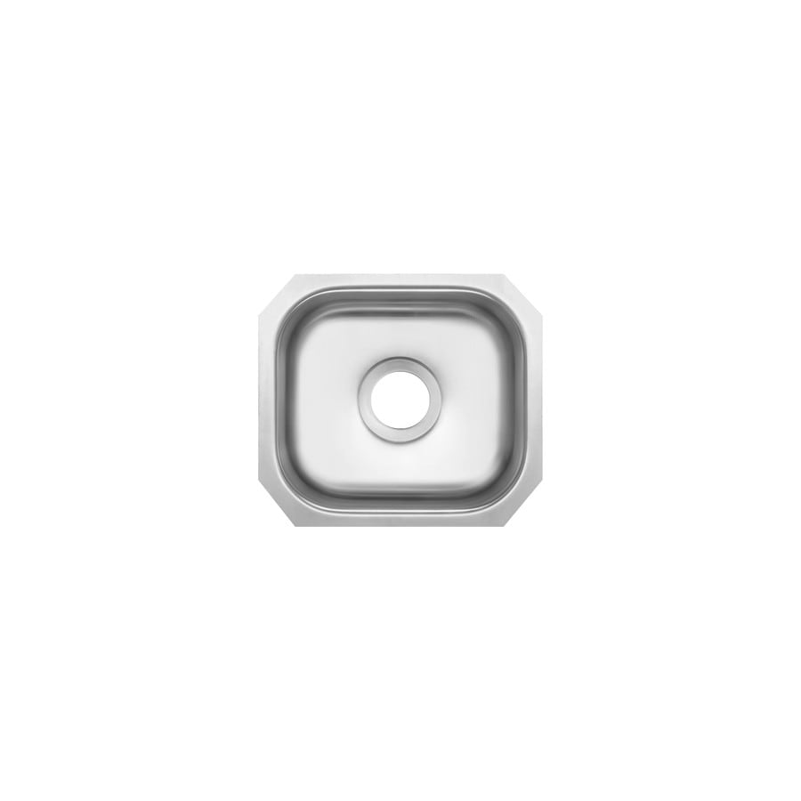 Superior Sinks 13-in x 14.5-in Satin Brush Stainless Steel Single-Basin-Basin Stainless Steel Undermount (Customizable)-Hole Residential Kitchen Sink