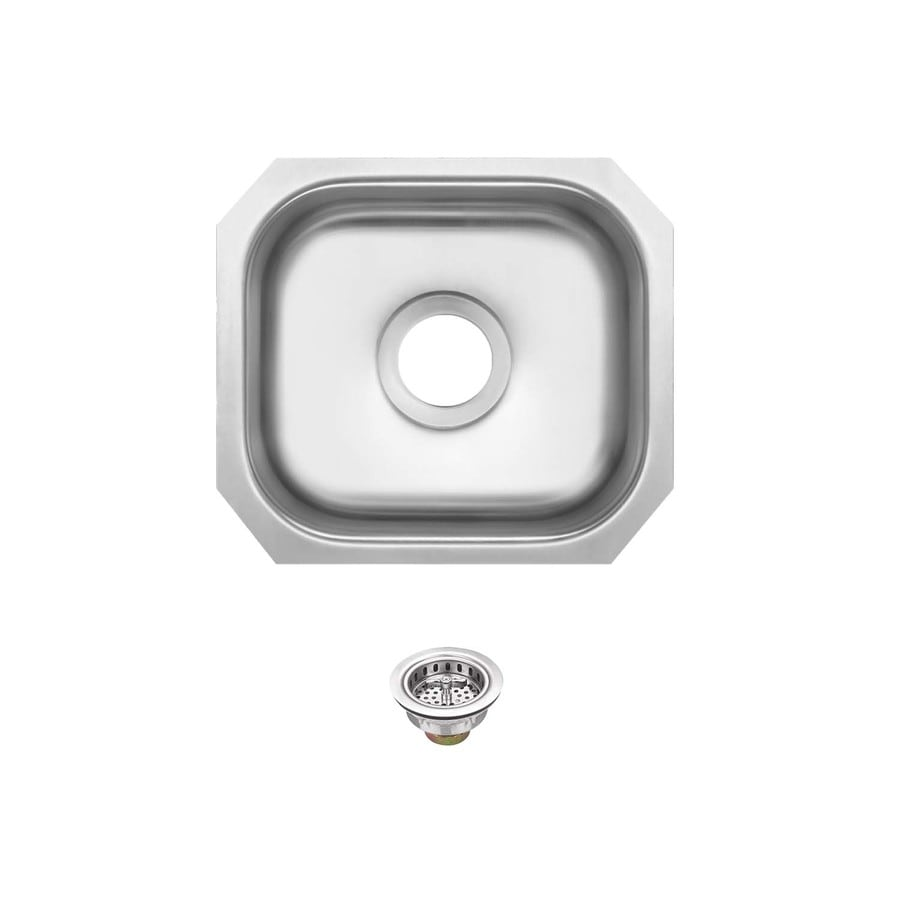 Superior Sinks 13.0-in x 14.5-in Brushed Satin Single-Basin Stainless Steel Undermount Residential Kitchen Sink