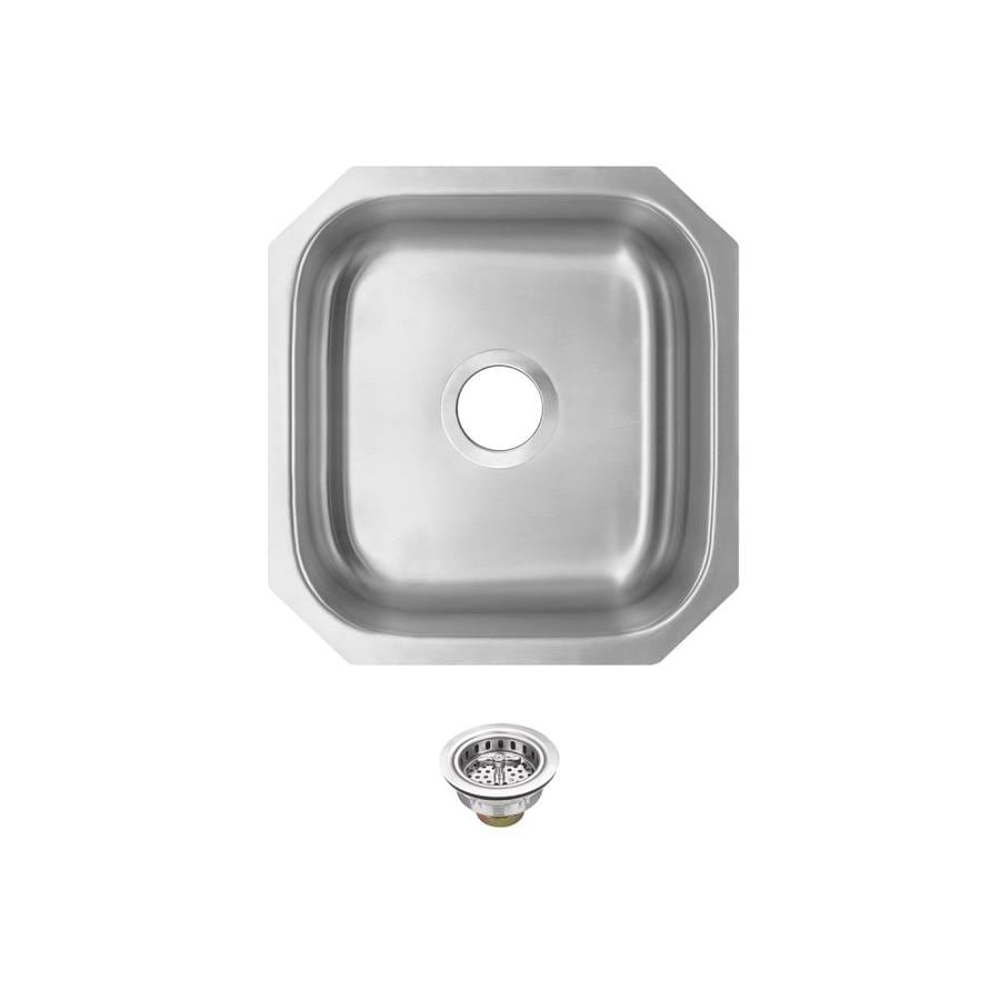 Superior Sinks 18-in x 16.1875-in Brushed Satin Single-Basin Stainless Steel Undermount Residential Kitchen Sink
